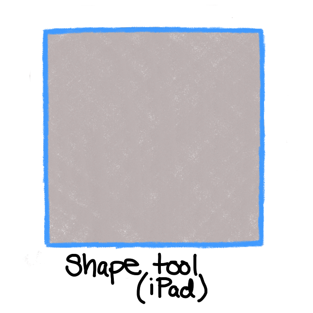grey square with blue border