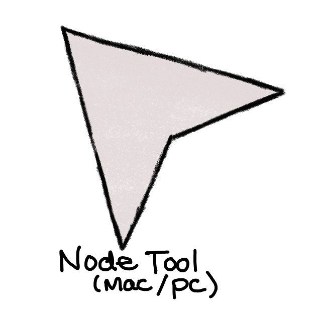 grey arrow with black outline