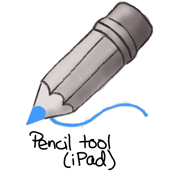 grey shaded pencil with blue tip drawing a blue curvy line