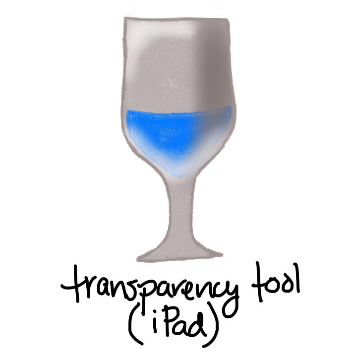 grey shaded wine glass with blue liquid in side it