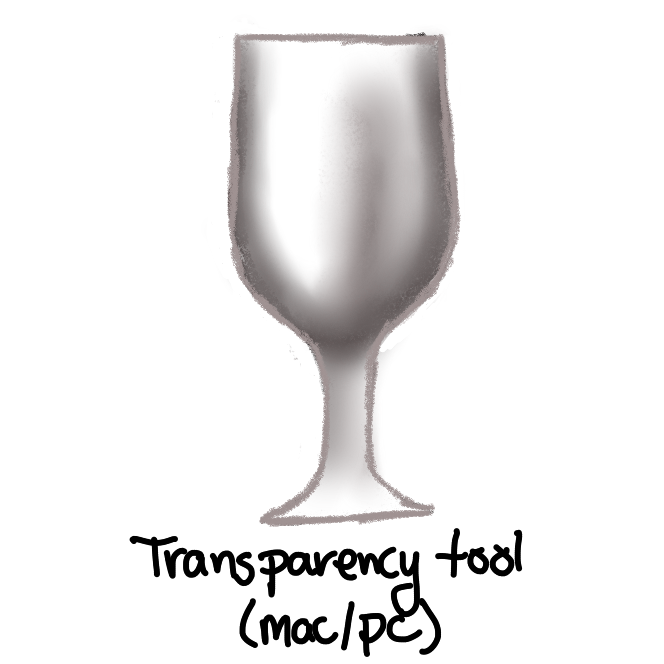 grey shaded wine glass