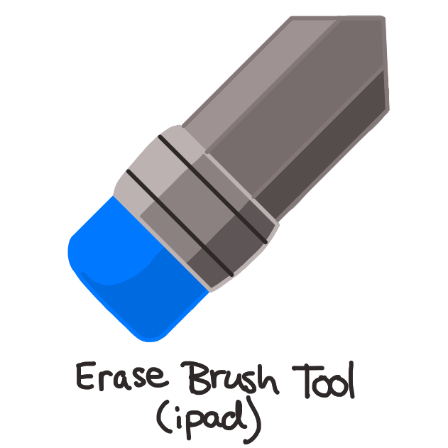 black and grey shaded pencil with blue eraser on end