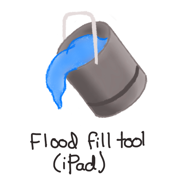 grey paint bucket with white handle and blue paint spilling out